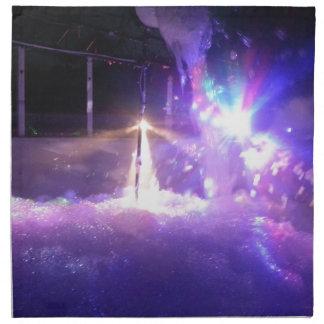 Espuma azul de las luces laser servilleta de papel