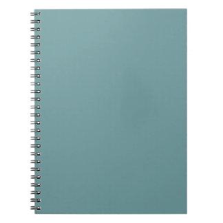 Espuma azul oscura del mar de la tendencia del col spiral notebooks