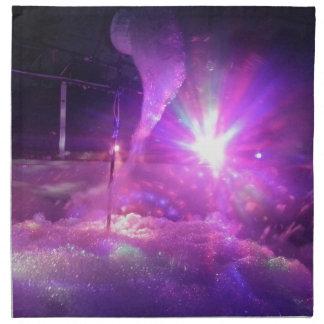 Espuma azul púrpura del laser servilletas de papel