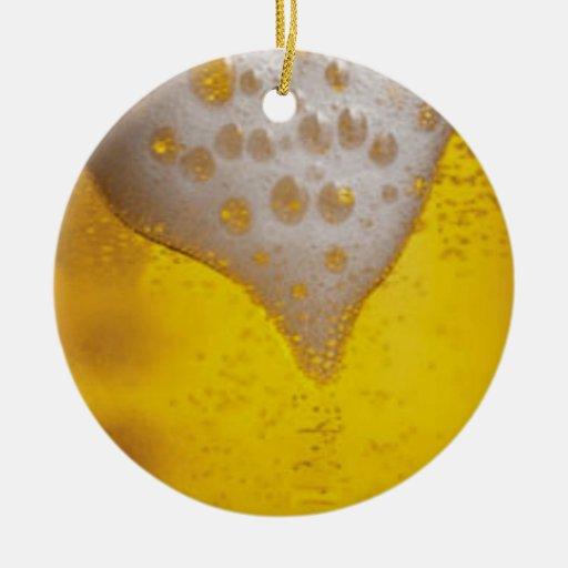 Espuma de la cerveza ligera ornamento para arbol de navidad