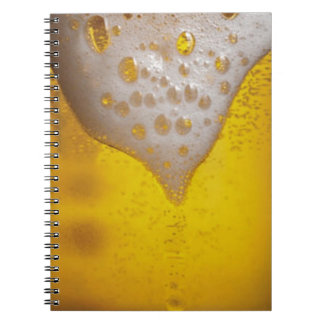 Espuma de la cerveza ligera libro de apuntes