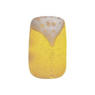 Espuma de la cerveza ligera pegatinas para uñas