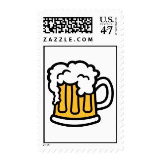 Espuma de la taza de cerveza timbre postal