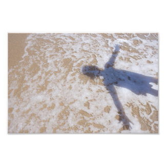 Espuma del mar de la fotografía de la playa y la s