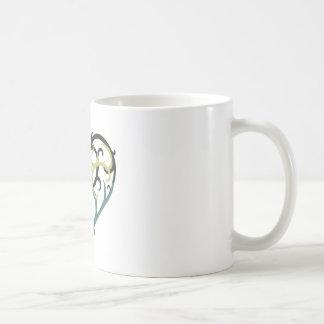 espuma del mar del corazón de la vid taza de café