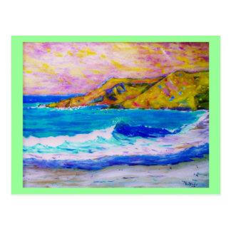 espuma del mar tarjetas postales