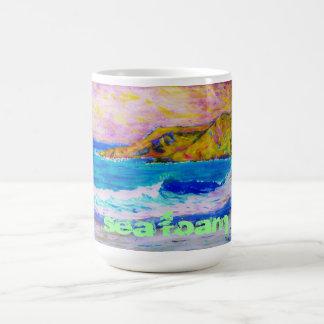 espuma del mar taza de café