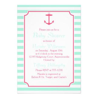 Espuma del mar y fiesta de bienvenida al bebé rosa