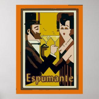 Espumante, vinos espumosos, póster