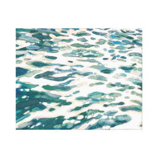 Espumejear arte marino de la lona de la estela del impresión de lienzo