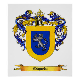 Esqueda Shield of Arms Poster