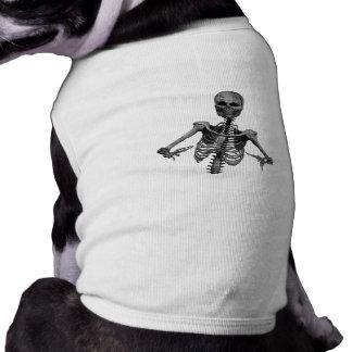 Esqueleto 2 del horror camisetas de perro
