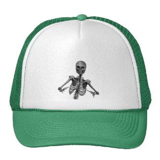 Esqueleto 2 del horror gorros bordados