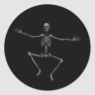 Esqueleto 3 del horror - Halloween - Etiquetas