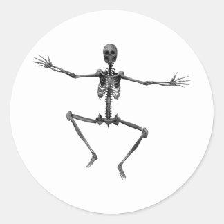 Esqueleto 3 del horror - Halloween - Pegatinas Redondas