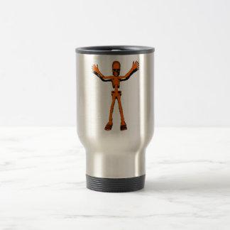 Esqueleto anaranjado taza de café