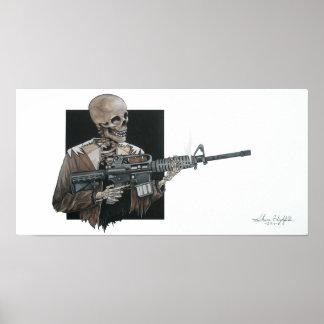 Esqueleto AR-15 Posters