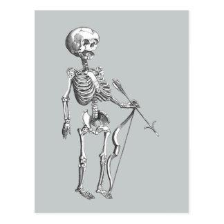 Esqueleto Archer del vintage Postal