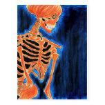 Esqueleto ardiente postales