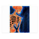 Esqueleto ardiente tarjetas postales