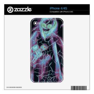 Esqueleto asustadizo perfecto calcomanías para el iPhone 4