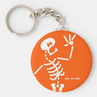 Esqueleto asustado llaveros personalizados