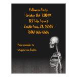 Esqueleto - aviador de Halloween Tarjetón