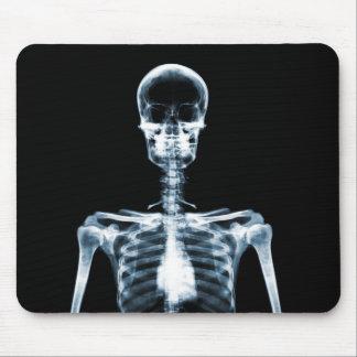 Esqueleto azul de Vision de la radiografía solo Alfombrilla De Ratón