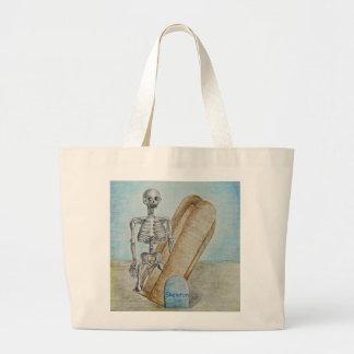 esqueleto bolsa tela grande