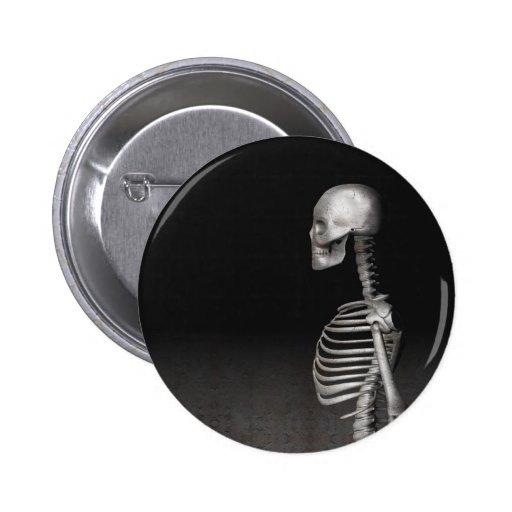 Esqueleto - botón de Halloween Pin