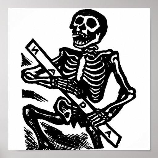 Esqueleto, circa México 1951 Póster