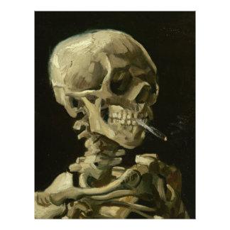 Esqueleto con el cigarrillo de Van Gogh Flyer Personalizado
