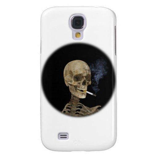Esqueleto con el cigarrillo funda para galaxy s4