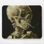 Esqueleto con el cigarrillo Mousepad 1886 Tapete De Raton
