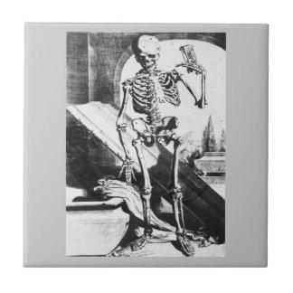 Esqueleto de Anatomia Humani Corporis Azulejo Cuadrado Pequeño