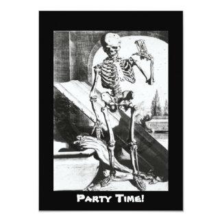 """Esqueleto de Anatomia Humani Corporis Invitación 4.5"""" X 6.25"""""""