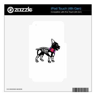 Esqueleto de Boston Terrier iPod Touch 4G Skin