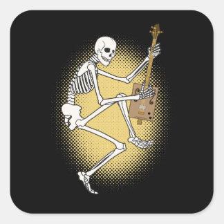 Esqueleto de CBG Calcomania Cuadradas Personalizadas