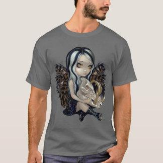 Esqueleto de hadas gótico lowbrow de la camisa del