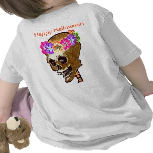 Esqueleto de Halloween del niño Camisetas