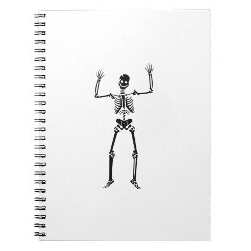 Esqueleto de Halloween Libro De Apuntes