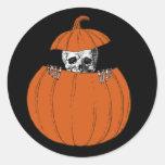 Esqueleto de Halloween Pegatina Redonda