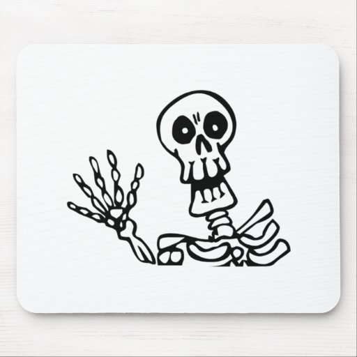 Esqueleto de Halloween Tapete De Raton
