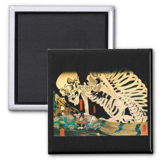 Esqueleto de Kuniyoshi convocado por la bruja Imán Cuadrado