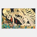 Esqueleto de Kuniyoshi convocado por la bruja Pegatina Rectangular