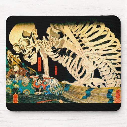 Esqueleto de Kuniyoshi convocado por la bruja Tapetes De Ratones