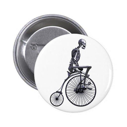 Esqueleto de la bicicleta pin redondo de 2 pulgadas