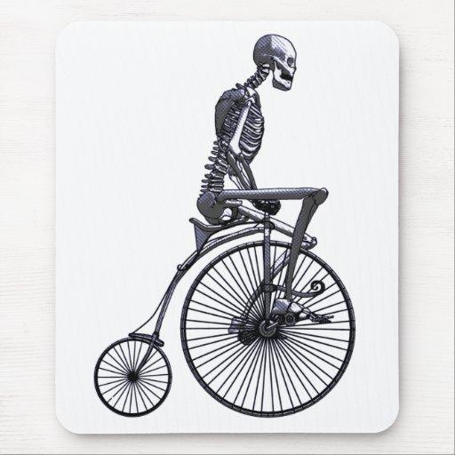 Esqueleto de la bicicleta tapetes de ratón