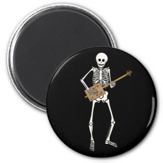 Esqueleto de la guitarra de la caja de cigarros imán redondo 5 cm