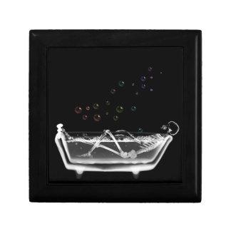 Esqueleto de la radiografía de la tina de baño - b cajas de recuerdo